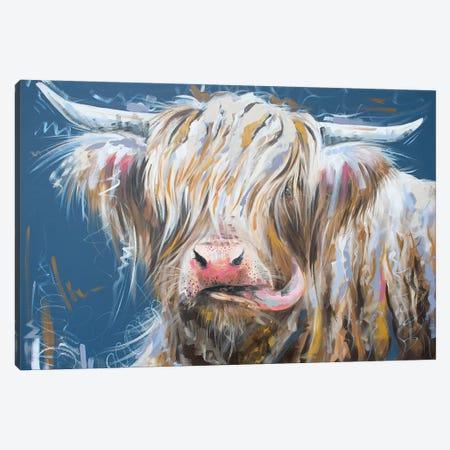Nice To Meet Moo Canvas Print #LUG19} by Louise Green Canvas Print