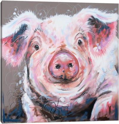 Penelope Pig Canvas Art Print