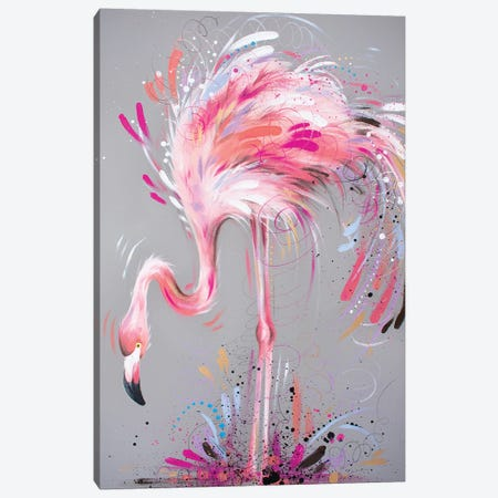 Pretty In Pink Canvas Print #LUG21} by Louise Green Canvas Wall Art