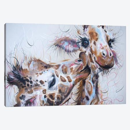 Sloppy Kisses Canvas Print #LUG23} by Louise Green Canvas Wall Art