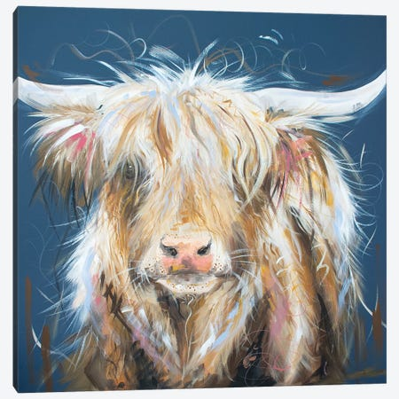 What Moo Looking At Canvas Print #LUG25} by Louise Green Canvas Art Print