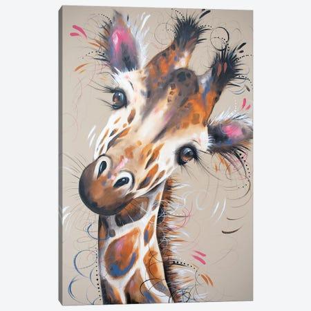 Gerald Giraffe Canvas Print #LUG6} by Louise Green Canvas Wall Art