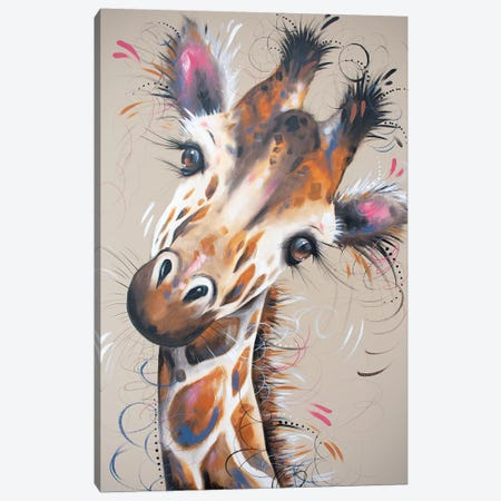 Gerald Giraffe Canvas Print #LUG6} by Louise Green Canvas Wall Art
