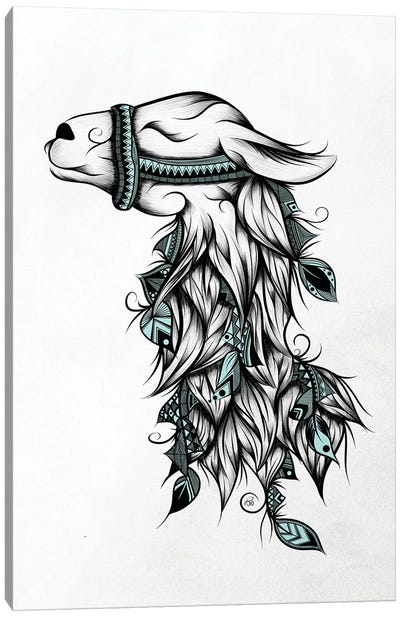 Poetic Llama Canvas Art Print