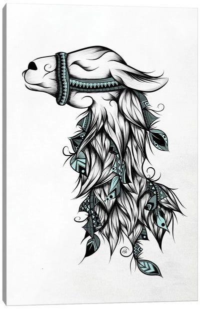 Poetic Llama Canvas Art Print