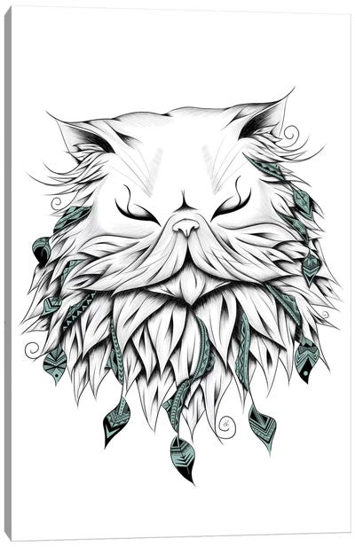 Poetic Persian Cat Canvas Art Print