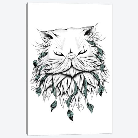 Poetic Persian Cat 3-Piece Canvas #LUJ15} by LouJah Canvas Art Print