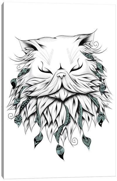Poetic Persian Cat Canvas Art Print