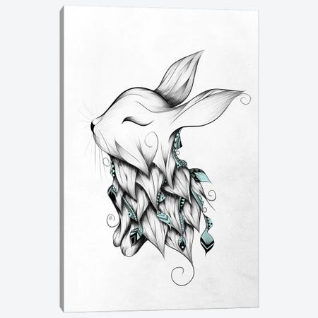 Poetic Rabbit Canvas Print #LUJ16} by LouJah Canvas Print