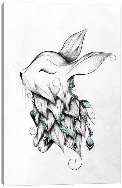 Poetic Rabbit Canvas Art Print