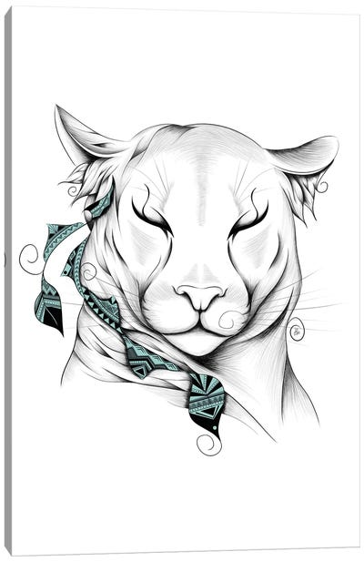 Poetic Cougar Canvas Art Print