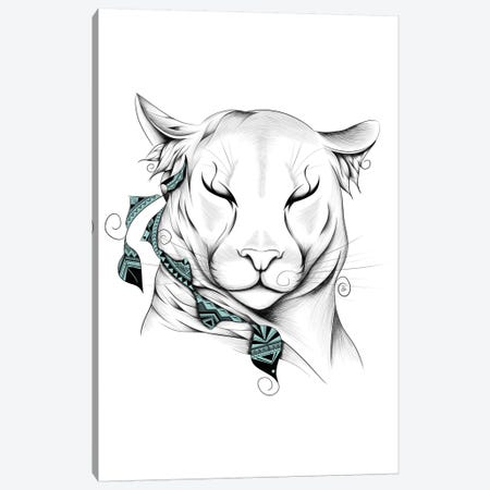 Poetic Cougar Canvas Print #LUJ1} by LouJah Canvas Wall Art