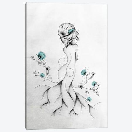 Poppy Poem Canvas Print #LUJ21} by LouJah Canvas Art Print
