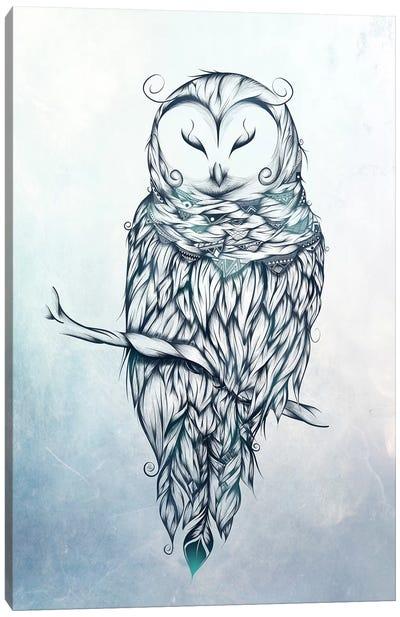 Snow Owl Canvas Art Print
