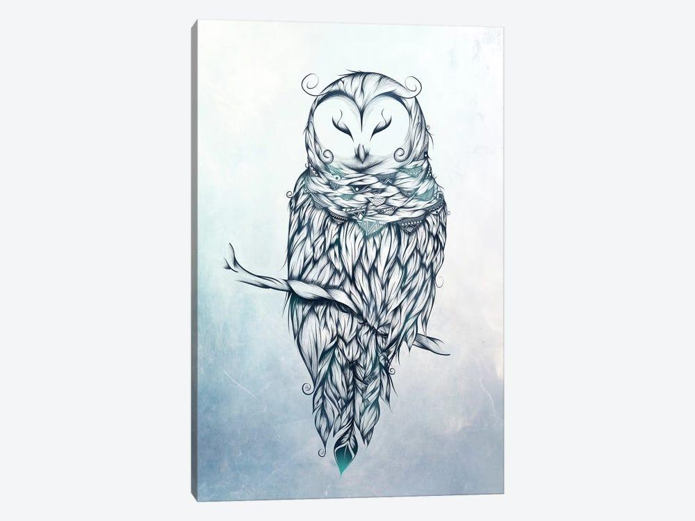 Snow Owl by LouJah 1-piece Canvas Art