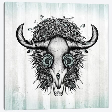 The Spirit Of the Buffalo Canvas Print #LUJ23} by LouJah Canvas Art Print