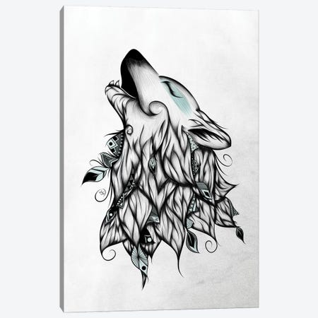 The Wolf Canvas Print #LUJ24} by LouJah Canvas Art