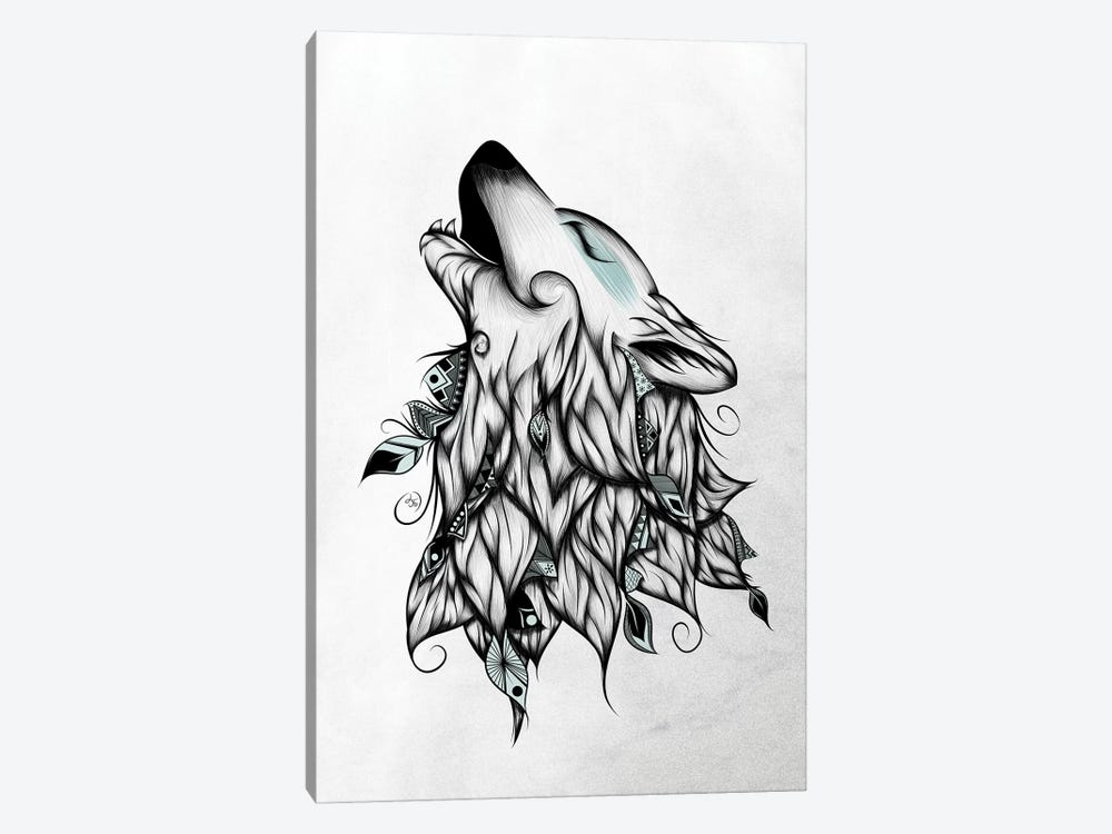 The Wolf by LouJah 1-piece Canvas Wall Art