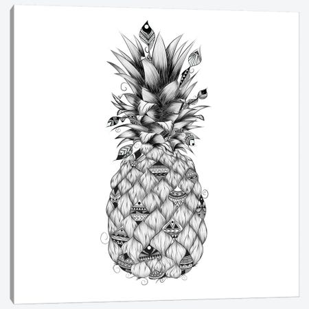 Ananas Canvas Print #LUJ25} by LouJah Canvas Art