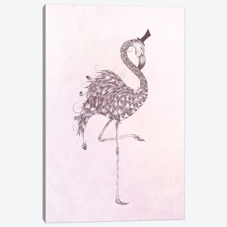 Flamingo Canvas Print #LUJ26} by LouJah Canvas Art