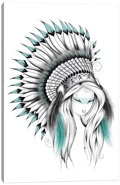 Indian Headdress Canvas Art Print