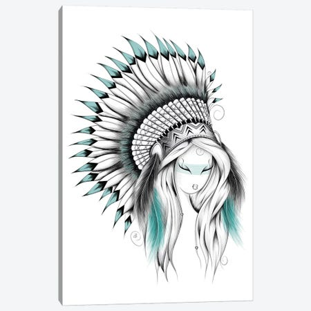 Indian Headdress Canvas Print #LUJ29} by LouJah Art Print