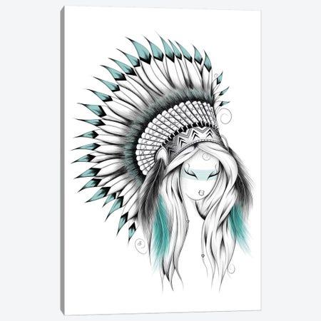 Indian Headdress Canvas Print #LUJ29} by LouJah Art Print