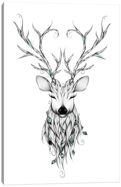 Poetic Deer Canvas Art Print