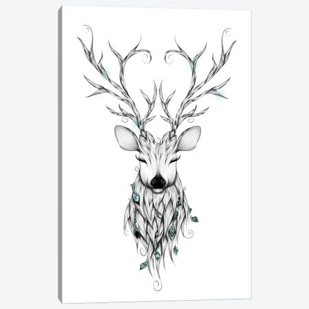 Poetic Deer Canvas Print #LUJ2} by LouJah Canvas Art
