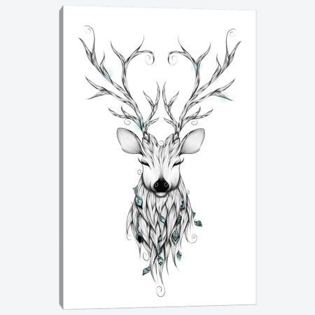 Poetic Deer Canvas Print #LUJ2} by LouJah Canvas Art