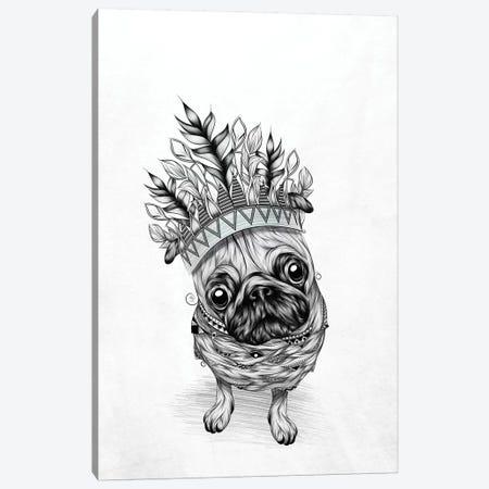 Indian Pug Canvas Print #LUJ30} by LouJah Canvas Artwork
