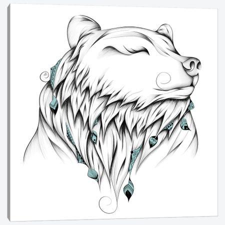 Poetic Bear Canvas Print #LUJ33} by LouJah Canvas Art