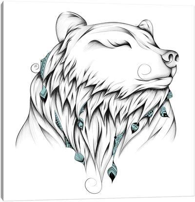 Poetic Bear Canvas Art Print