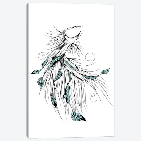 Poetic Betta Fish Canvas Print #LUJ34} by LouJah Art Print