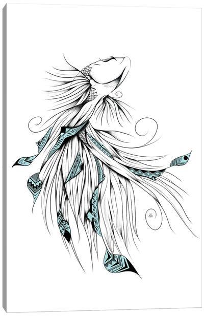 Poetic Betta Fish Canvas Art Print