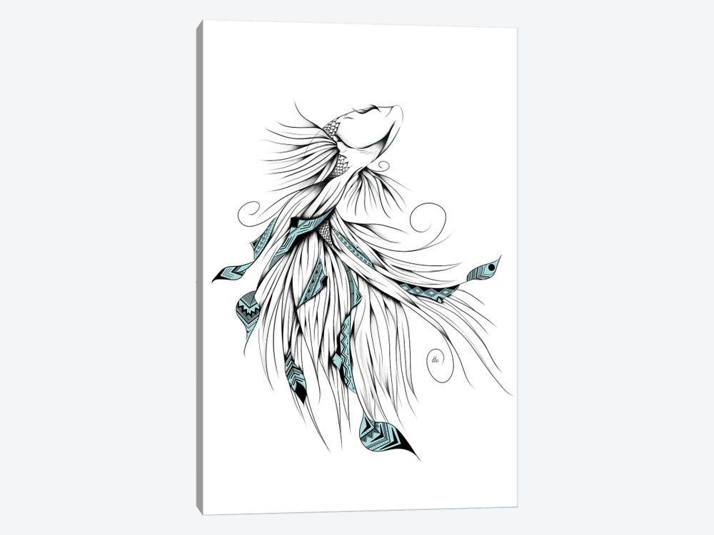 Poetic Betta Fish by LouJah 1-piece Art Print