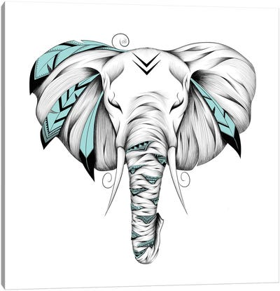 Poetic Elephant Canvas Art Print