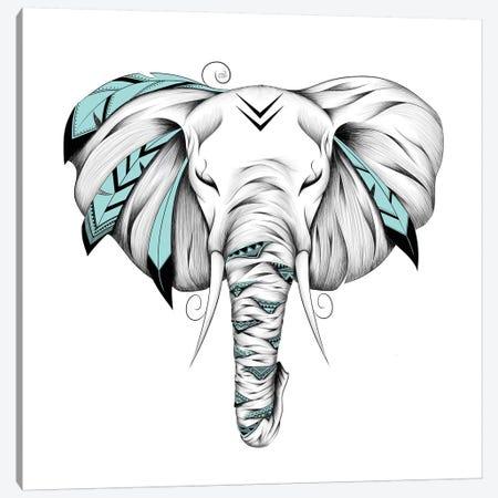 Poetic Elephant Canvas Print #LUJ3} by LouJah Canvas Wall Art