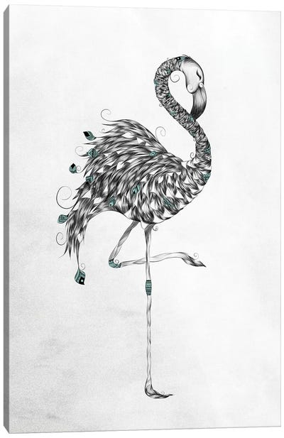 Poetic Flamingo Canvas Art Print