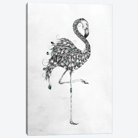 Poetic Flamingo Canvas Print #LUJ4} by LouJah Canvas Print