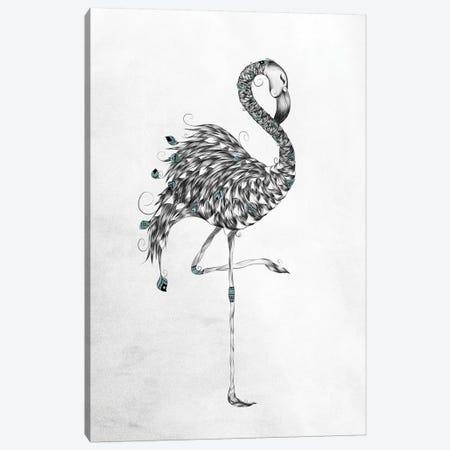 Poetic Flamingo Canvas Print #LUJ4} by LouJah Canvas Print
