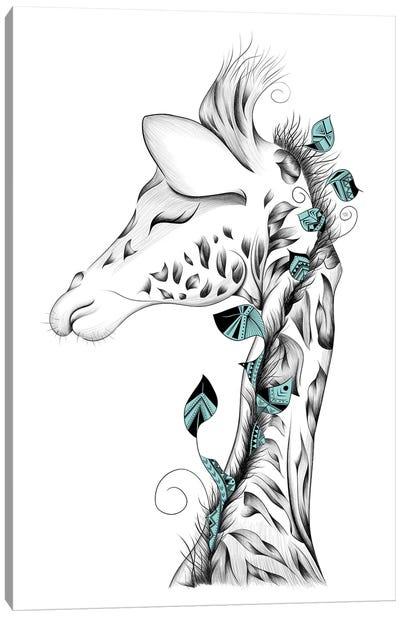 Poetic Giraffe Canvas Art Print