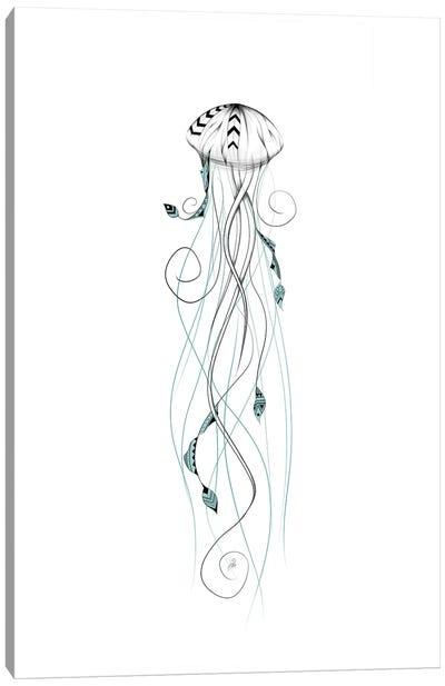 Poetic Jellyfish Canvas Art Print