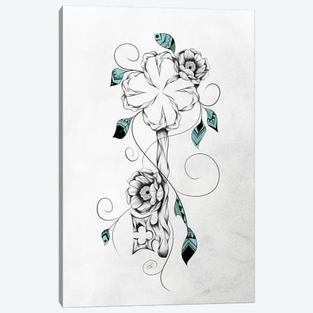 Poetic Key of Luck Canvas Print #LUJ9} by LouJah Canvas Artwork