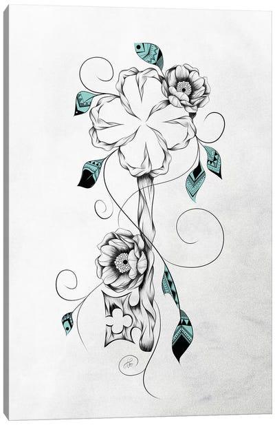 Poetic Key of Luck Canvas Art Print