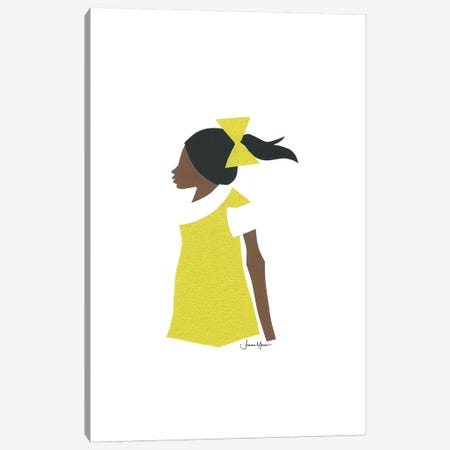 African American School Girl Canvas Print #LUL2} by LouLouArtStudio Canvas Wall Art