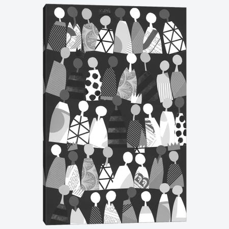 Multicultural Unity In Black & White Canvas Print #LUL35} by LouLouArtStudio Canvas Art Print