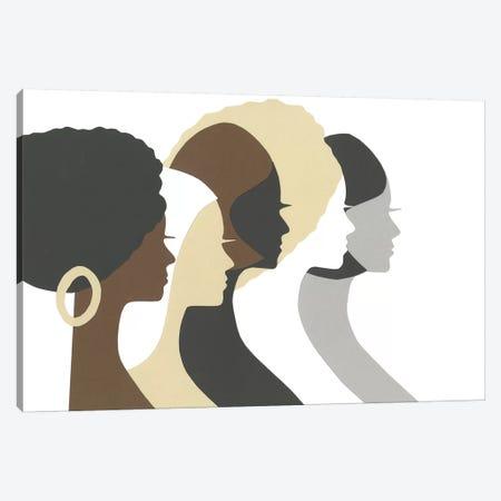 Multicultural Women Profile Canvas Print #LUL37} by LouLouArtStudio Canvas Art Print