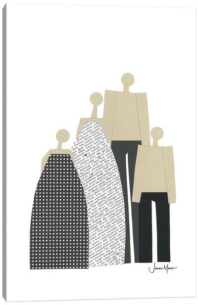 Nuclear Family Portrait Canvas Art Print