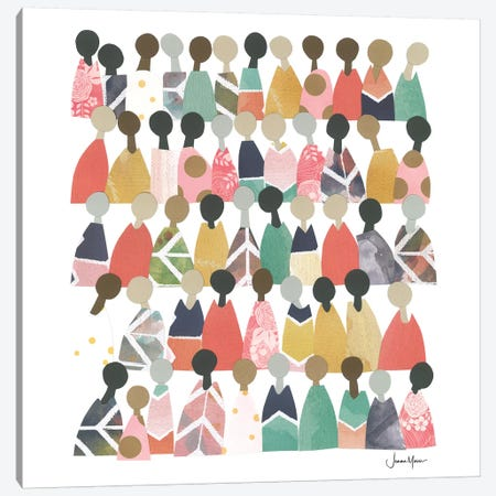 Pastel Diverse People Of Color Canvas Print #LUL41} by LouLouArtStudio Canvas Art Print